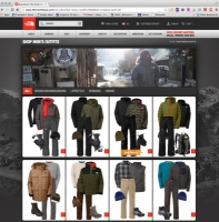 Created men's outfits for The North Face Website.