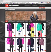 Created women's outfits for The North Face Website.